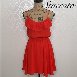 STACCATO SMALL RED ADJUSTABLE STRAP DRESS
